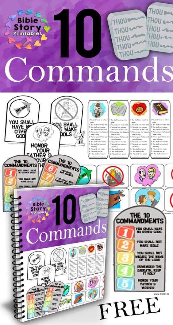 Dramatic image pertaining to free printable ten commandments