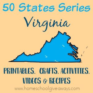 Everything you need to teach and/or learn about the great state of Virginia. From free printables to must see places to visit, to crafts, activities and more! :: www.homeschoolgiveaways.com