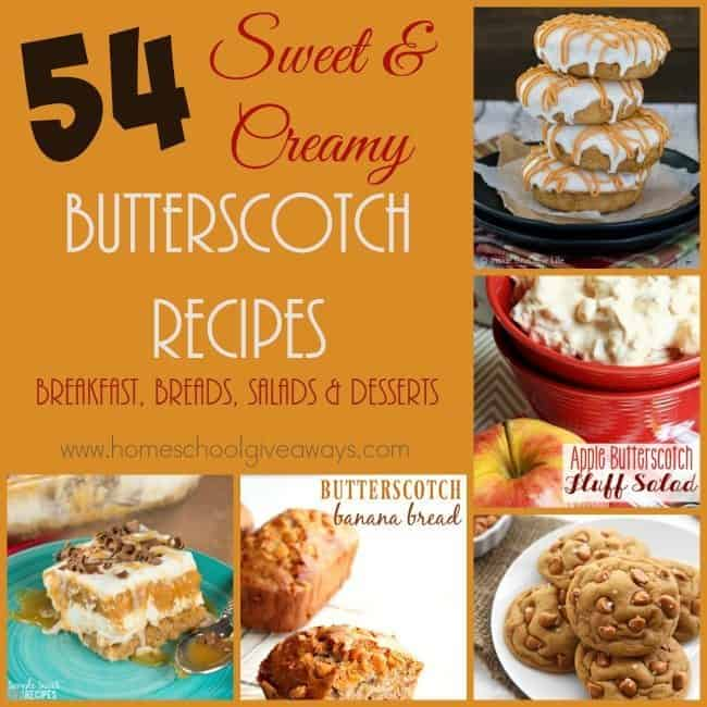 Butterscotch is one of those tastes and smells that reminds me of childhood. Who knew it was so easy to incorporate in to breakfast, salads, desserts & more! :: www.homeschoolgiveaways.com