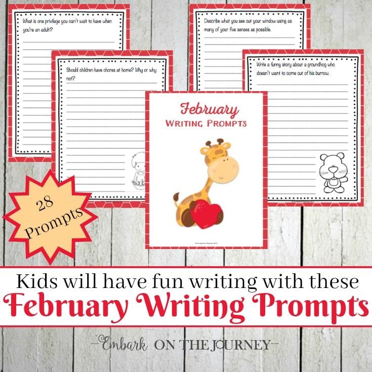 Feb Writing Prompts