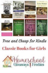 Free and Cheap Kindle Classic Books for Girls
