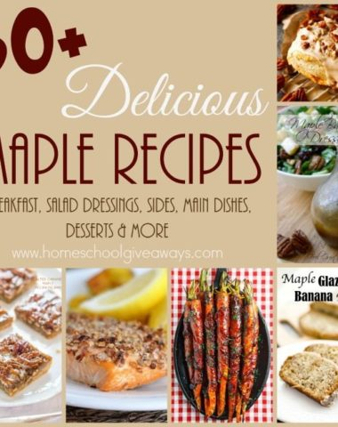 Maple is one of those flavors I just love, especially in the winter. These dishes use maple to make some amazing and delicious food! :: www.homeschoolgiveaways.com