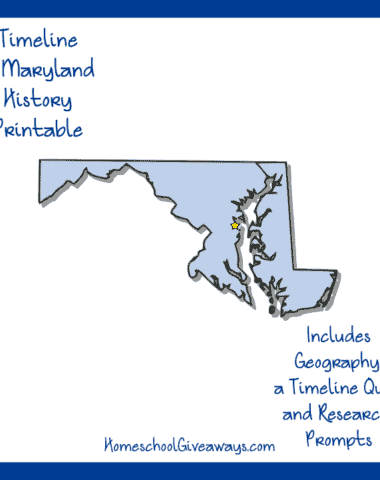 Maryland History Printable