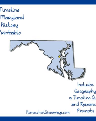 Maryland History Printable