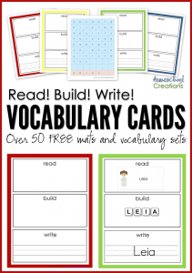 Read-Build-Write-Vocubulary-mats-and-cards-Homeschool-Creations
