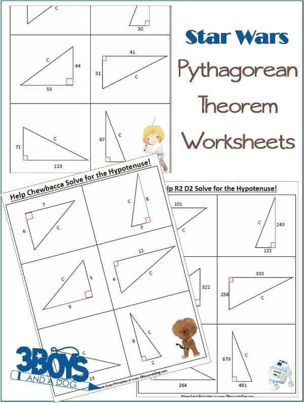 free star wars pythagorean theorem worksheets. Black Bedroom Furniture Sets. Home Design Ideas