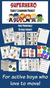 Superhero-19-page-active-preschool-packet-585x1024