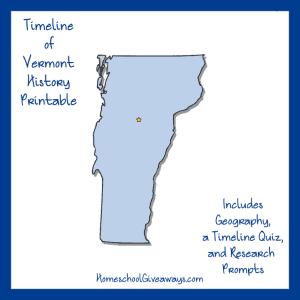 Vermont History Printable