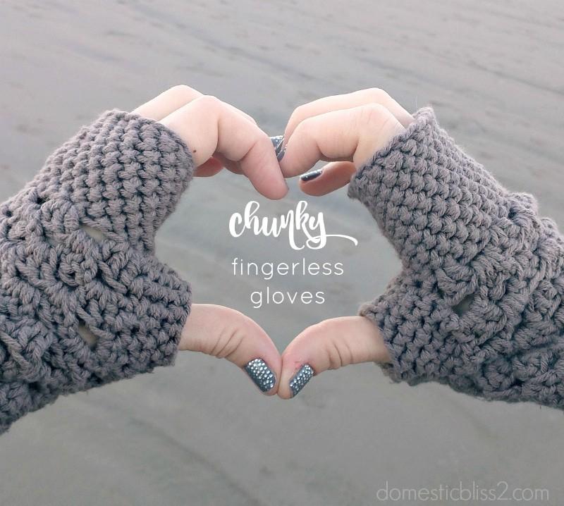 Free Chunky Fingerless Gloves Crochet Pattern Homeschool Giveaways