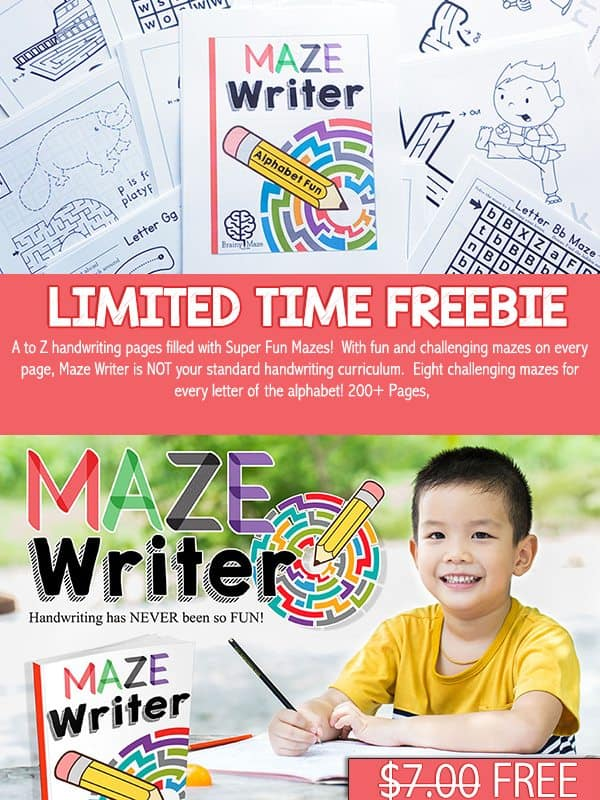 FREE Handwriting Curriculum Offer (LIMITED TIME)