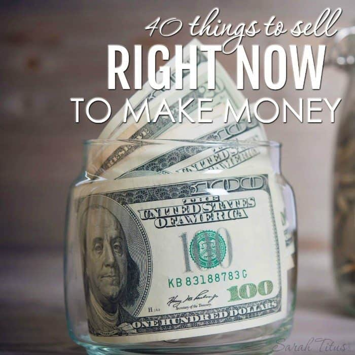 40 things to sell right now to make money for What to make and sell to make money