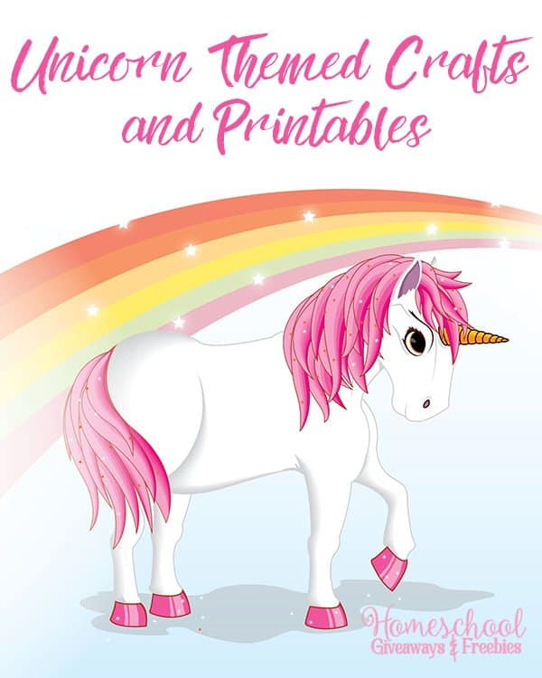 Unicorn Themed Crafts and Printables - Homeschool Giveaways