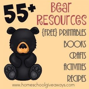 If you're studying bears this year, these resources will come in handy. From printables, to games to books and so much more - your study on bears is sure to be a hit! :: www.homeschoolgiveaways.com