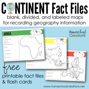 Continent-fact-files-and-flash-cards-from-Homeschool-Creations-square