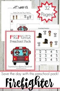 Firefighter-PreK-Pack