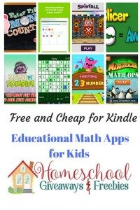 Free and Cheap Kindle Math Apps