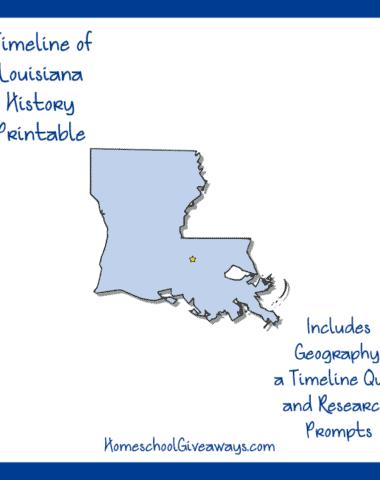 Louisiana History Printable