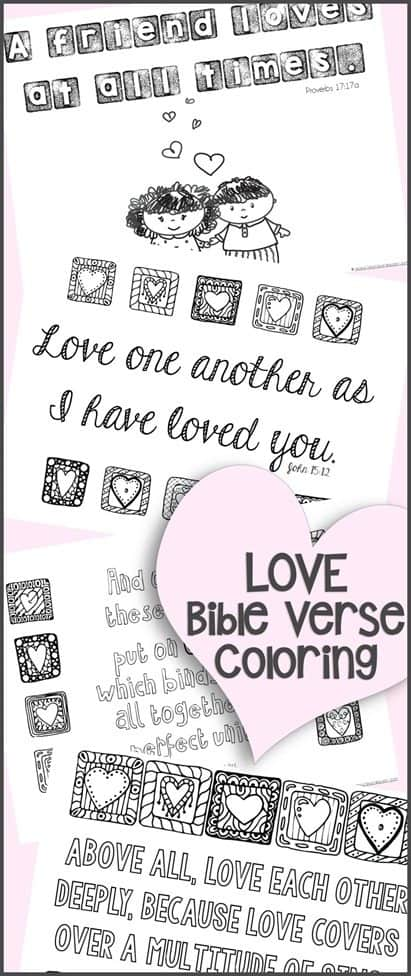love bible verses coloring pages - photo#13