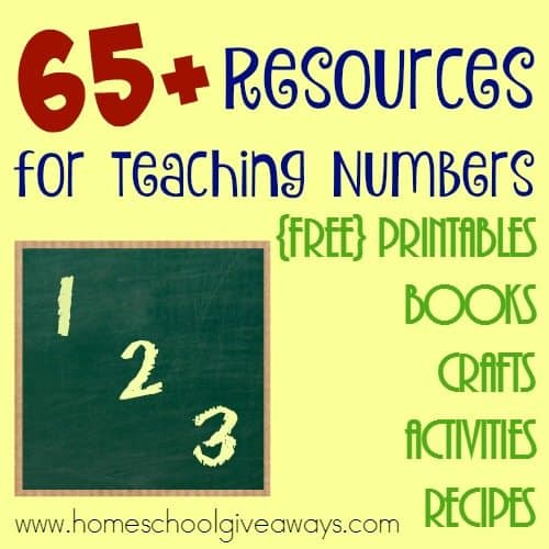 Teaching little ones all about numbers can be fun. Take the struggle out of teaching numbers with these 65+ Resources perfect for preschoolers! :: www.homeschoolgiveaways.com