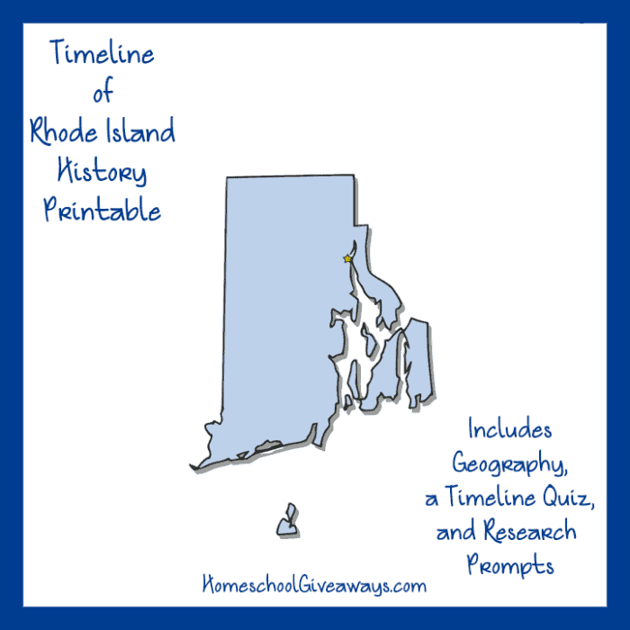 Rhode Island History Printable