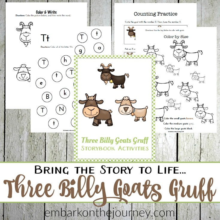 photograph about Three Billy Goats Gruff Story Printable named Cost-free Printables for A few Billy Goats Gruff - Homeschool