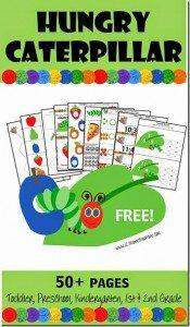 hungry caterpillar worksheets for toddler preschool kindergarten 1st grade 2nd grade kids_thumb[1]
