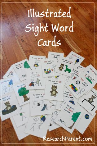FREE Printable Illustrated Sight Word Cards Pack ...