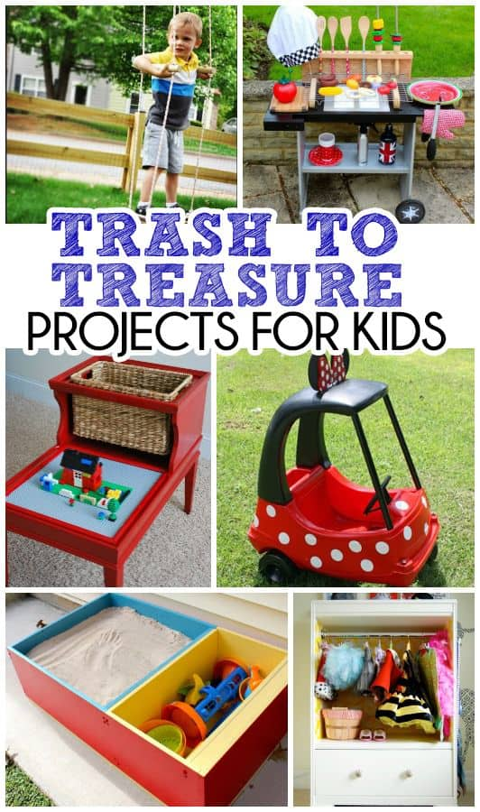 trash to treasure projects for kids. Black Bedroom Furniture Sets. Home Design Ideas