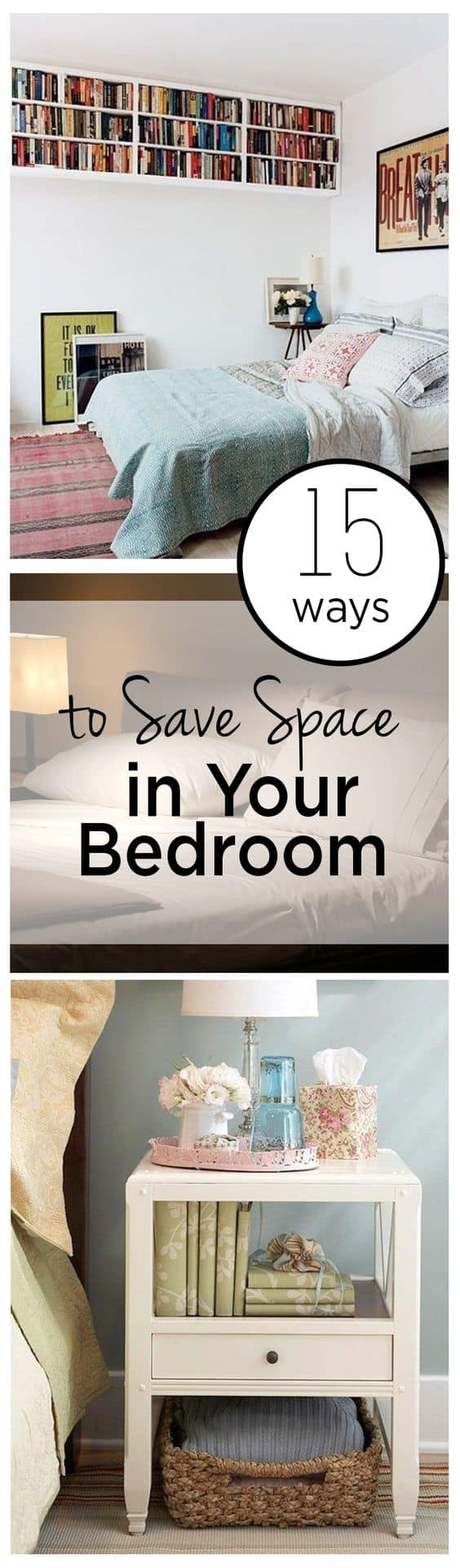 15 ways to save space in your bedroom for Ways to save for a house
