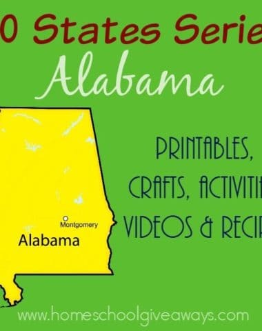 Geography is a part of every child's learning. Check out these resources for studying more about the state of Alabama. :: www.homeschoolgiveaways.com