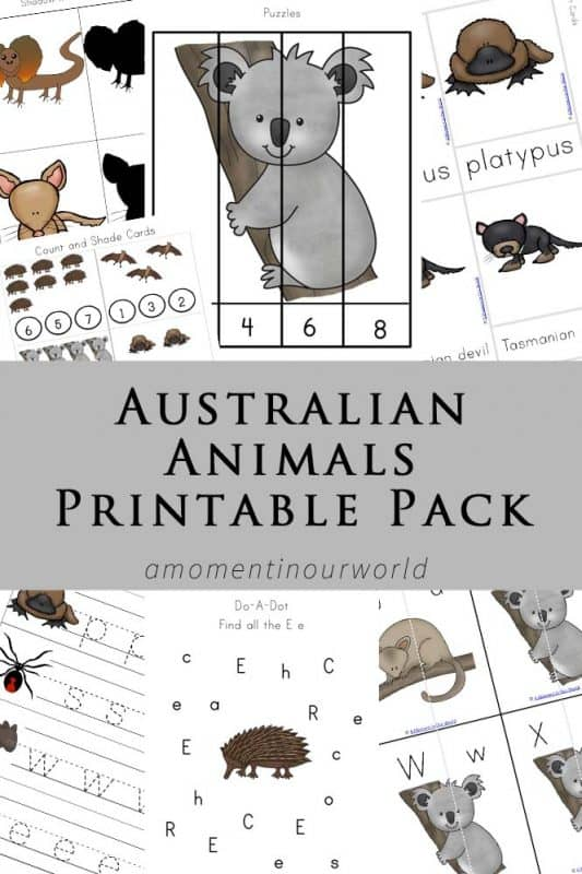 Australian-Animals-Printable-Pack-533x800