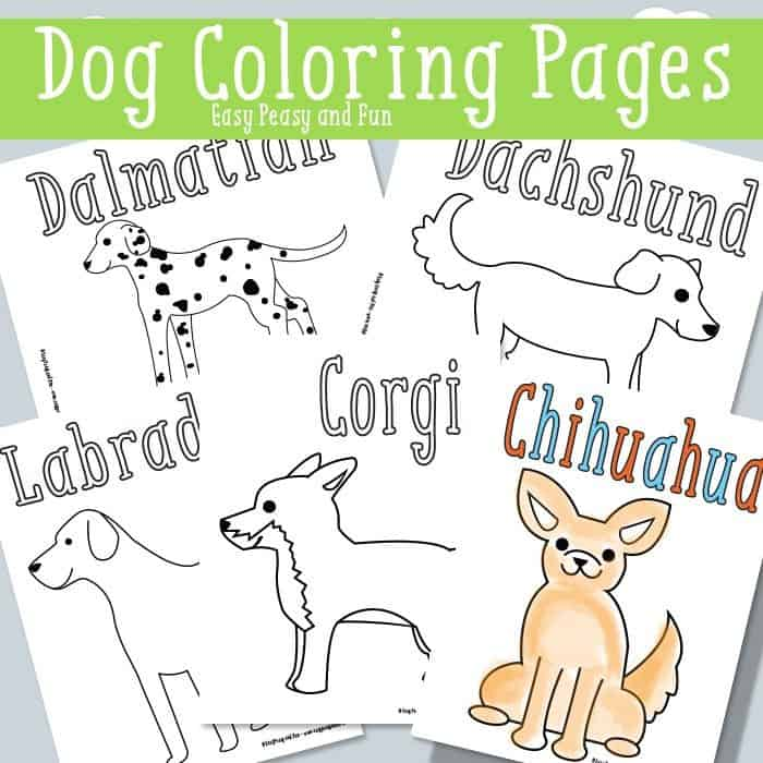 pack of dogs coloring pages - photo#1