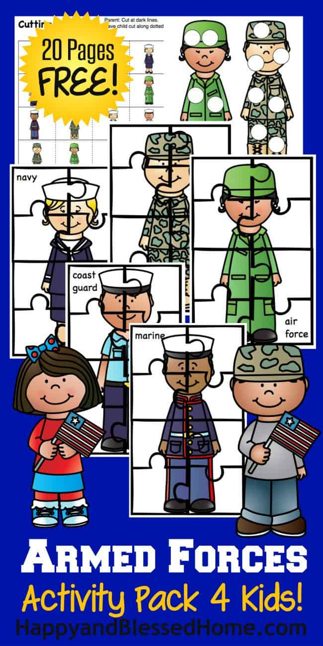 Printable Armed Forces Activity Pack