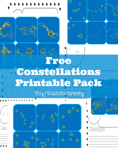 learning about the constellations free printable pack. Black Bedroom Furniture Sets. Home Design Ideas