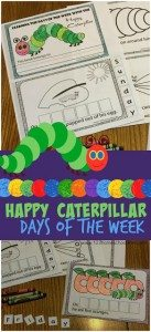 Hungry Caterpillar worksheets to learn the days of the week
