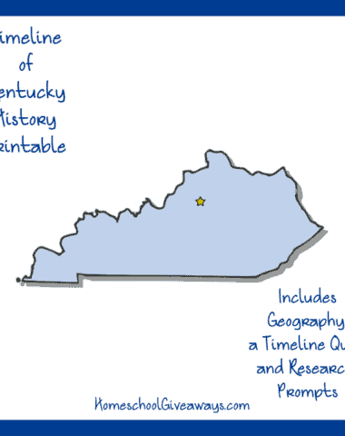 Kentucky State History Printable