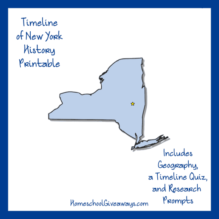 New York State History Printable