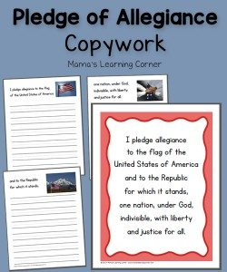 Pledge-of-Allegiance-Copywork