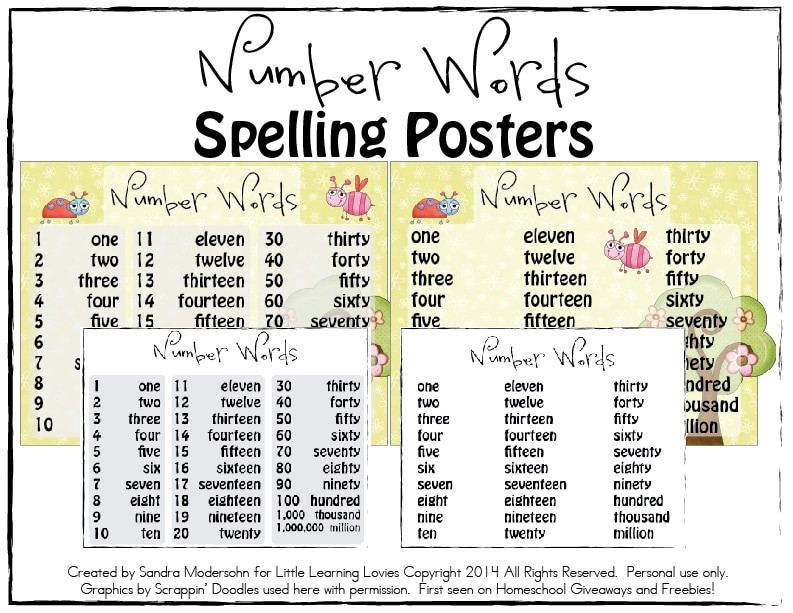 This is a photo of Old Fashioned Number Words Chart Printable