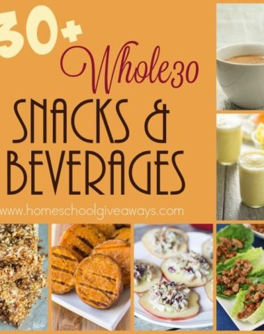 The key to sticking with a new eating lifestyle is to have snacks prepped and ready to go. Here are 130+ Whole30 Snacks & Beverages to keep you healthy! :: www.homeschoolgiveaways.com