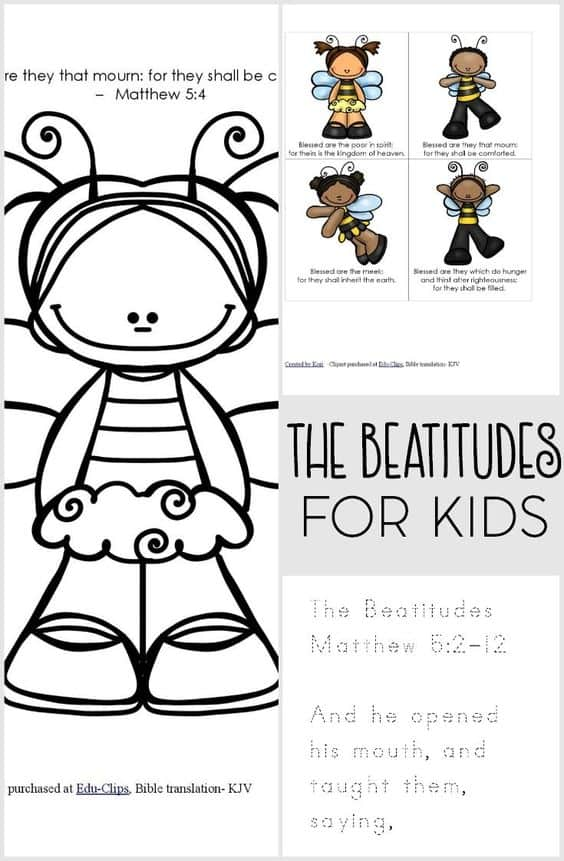 the beatitudes coloring pages - photo#16