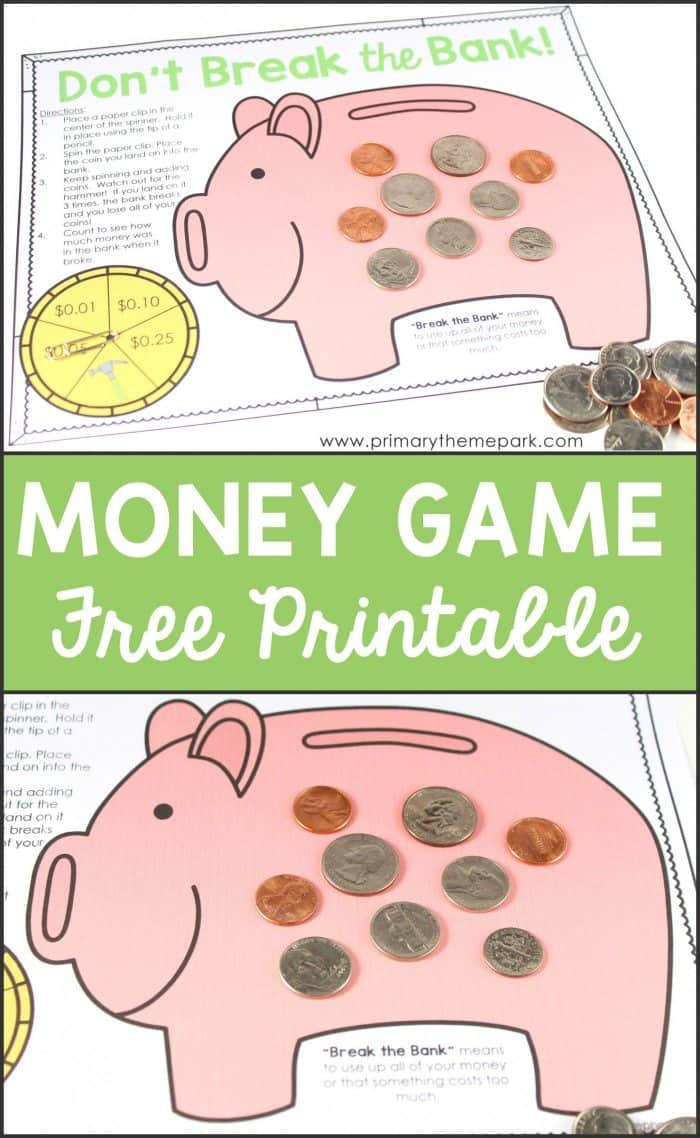 picture about Free Printable Money named Free of charge Printable Economic Sport - Homeschool Giveaways