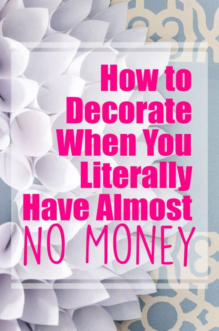 How To Decorate When You Literally Have Almost No Money Homeschool Giveaways