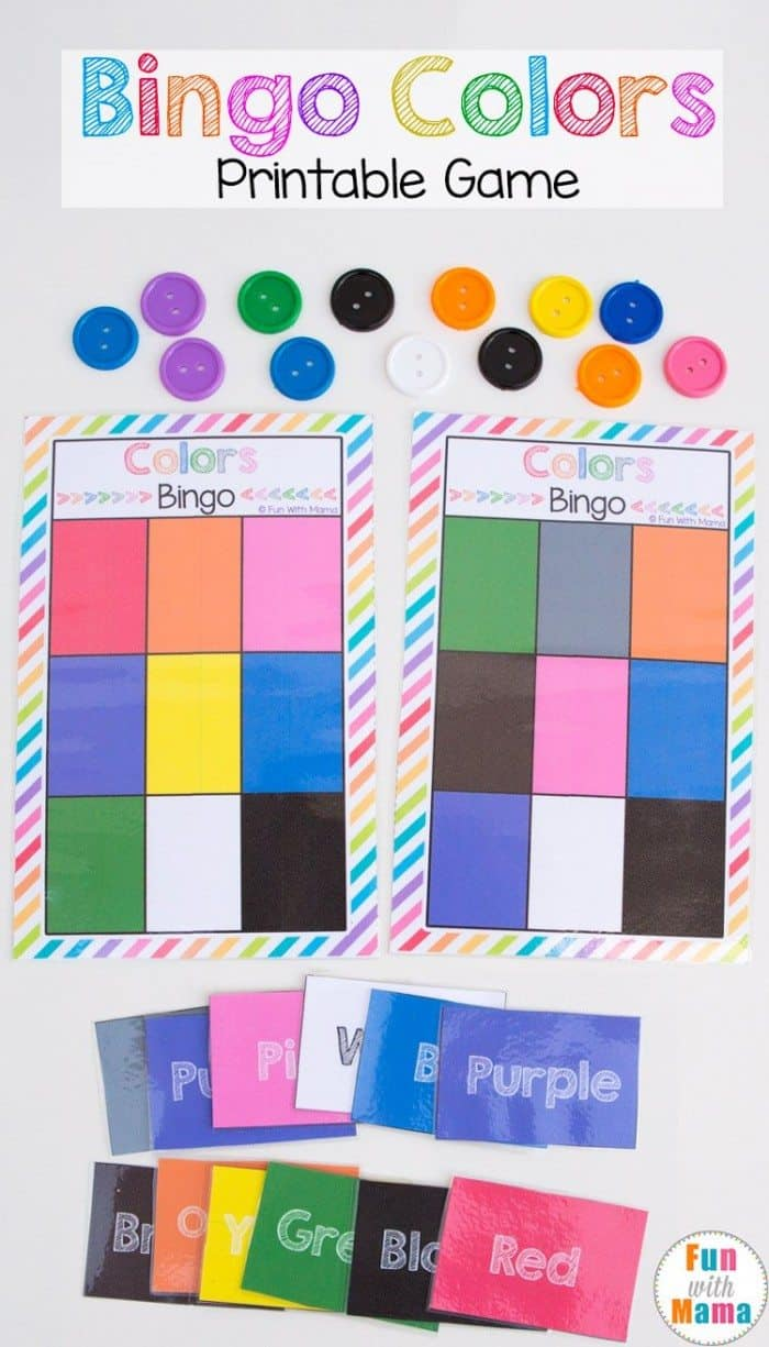 FREE Bingo Colors Printable Game