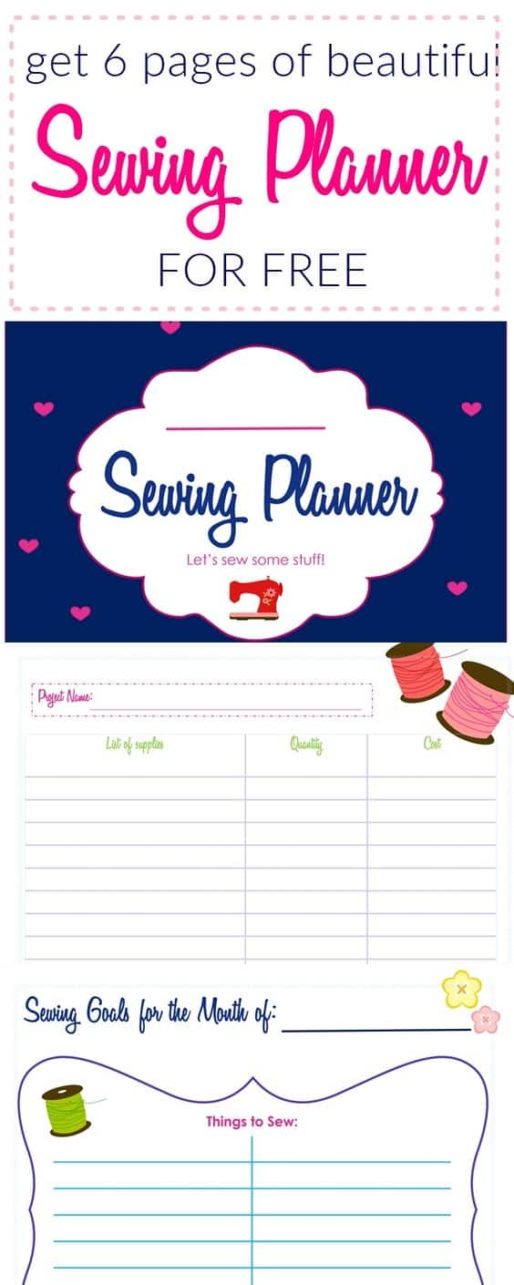 Free Printable Sewing Planner