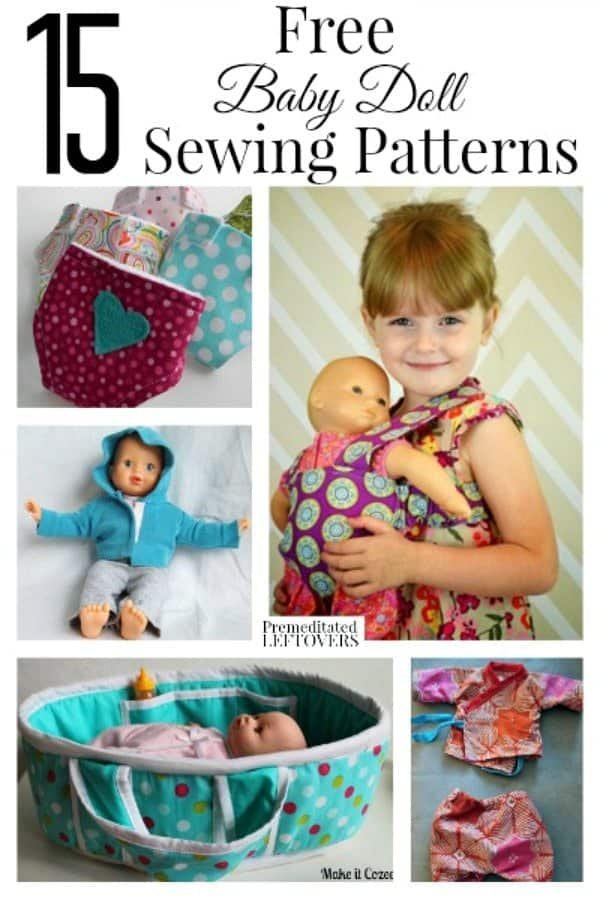 15 Free Baby Doll Sewing Patterns Homeschool Giveaways
