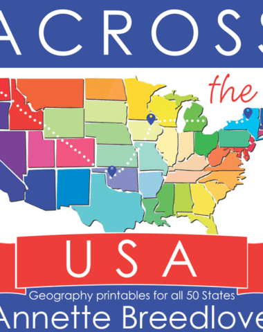 Learning the 50 States, their capitals, history, state symbols and more has never been more fun! Across the USA is 638 pages of activities and fun, designed to help your children learn and enjoy geography! Get it 50% OFF thru 4.9.17 :: www.homeschoolgiveaways.com