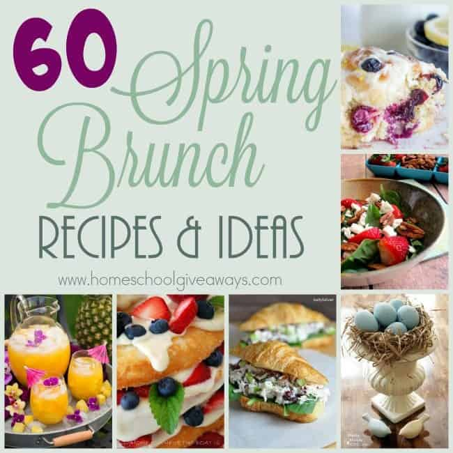 Do you love having showers at family meals at brunch? Check out these delicious recipes and tablescape ideas perfect for any Spring party! :: www.homeschoolgiveaways.com