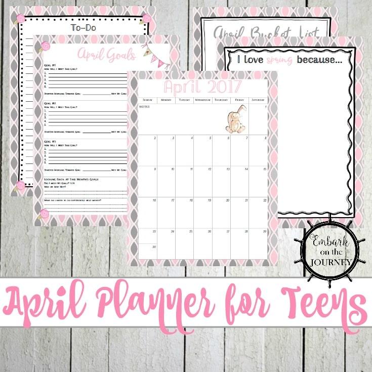 Teen Planner - April