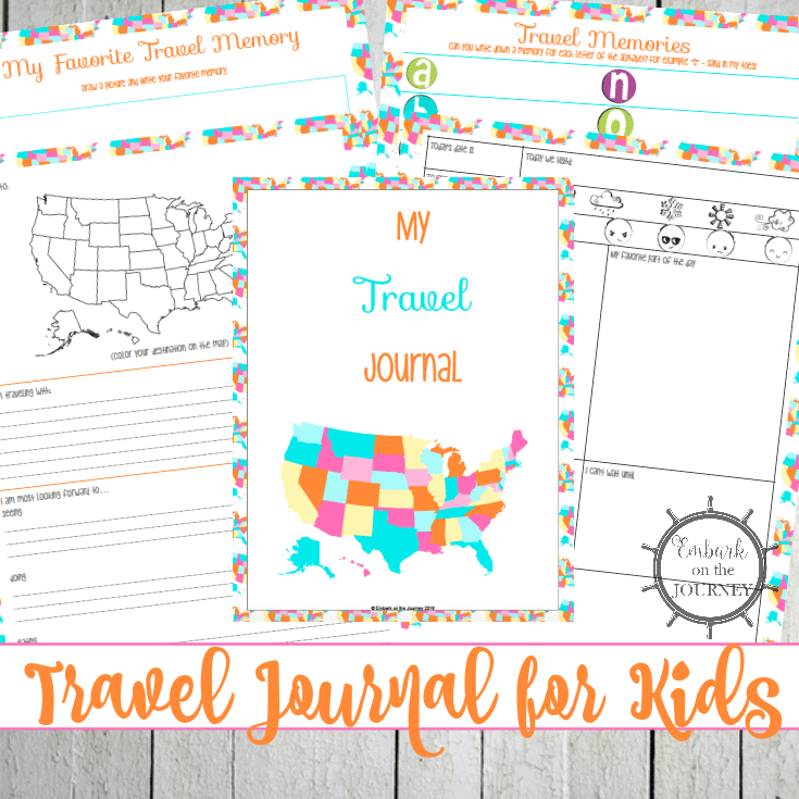 photograph relating to Travel Journal Printable called A Totally free Printable Drive Magazine for Young children - Homeschool Giveaways